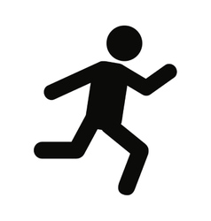 Person running silhouette icon vector