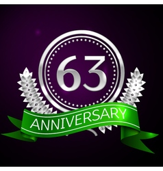 Sixty three years anniversary celebration with vector