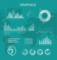 Set of transparent graphs and diagrams vector