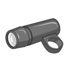 A flashlight that clings to the steering wheel to vector