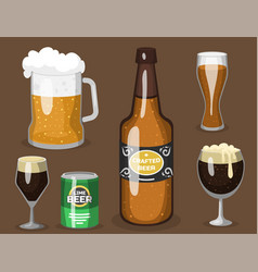 Alcohol beer refreshment vector