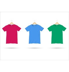 Tshirts on hangers vector