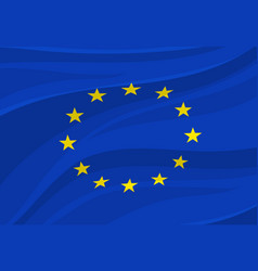 European union flag europe national symbol vector