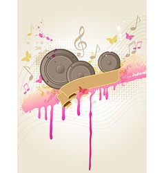 Retro music background with speakers vector