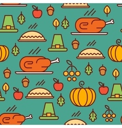 Thanksgiving Day pattern vector image