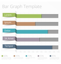 Horizontal bar chart vector