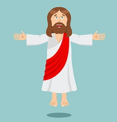 Jesus christ cheerful son of god biblical vector