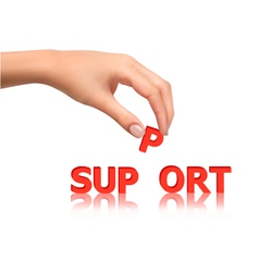 hand with support vector image