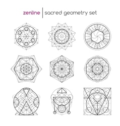 Sacred geometry set vector