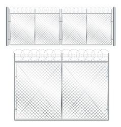 Metal mesh gate vector