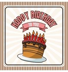 Happy birthday design cake icon colorfull vector