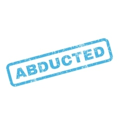 Abducted Rubber Stamp vector image vector image