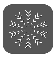 abstract snowflakes vector image