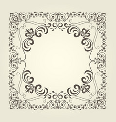 Art nouveau ornamental square frame with curly pat vector