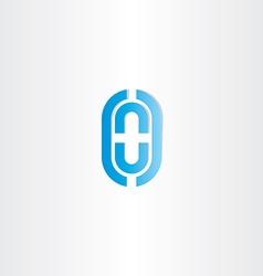 blue letter o logo vector image vector image