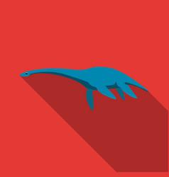 blue loch ness monsterthe monster of lake loch vector image vector image