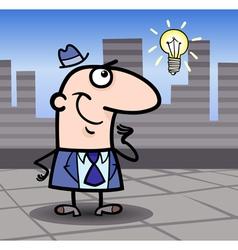 businessman with idea cartoon vector image