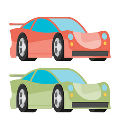 Car icon fast racing automobile vector