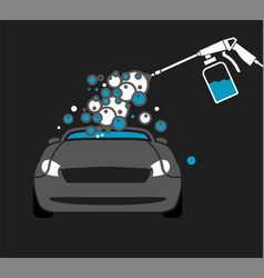 Car wash image vector