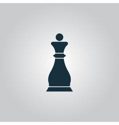 Chess queen icon vector