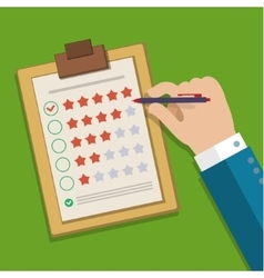Customer feedback concept vector