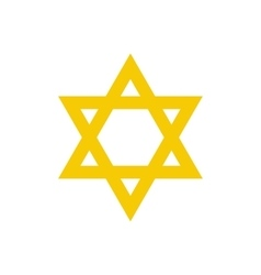 David star flat icon vector