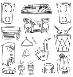 Doodle of hand draw music theme vector image