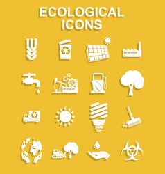 ecology icons concept for vector image vector image