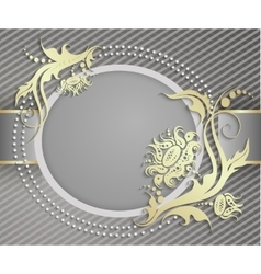 Elegant frame banner Luxury floral background vector image vector image