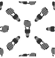energy saving light bulb icon seamless pattern vector image vector image