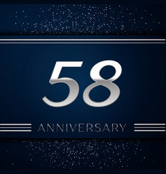 fifty eight years anniversary celebration logotype vector image