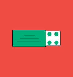 Flat icon design collection pill pack vector