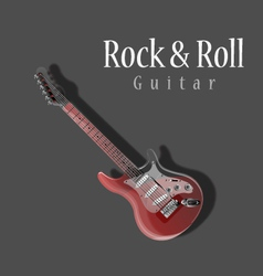 Guitar Detailed Electric Glass Guitar vector image