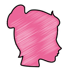 Head woman profile icon vector