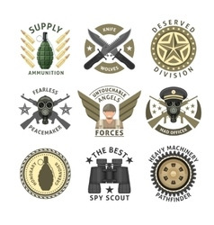 Military Units Emblems vector image