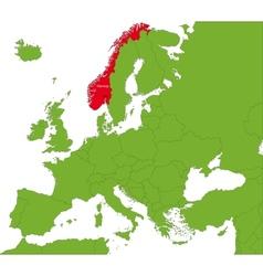 Norway map vector image