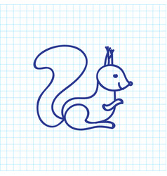 of zoology symbol on squirrel vector image vector image