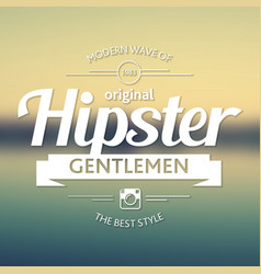 original hipster style poster vector image vector image