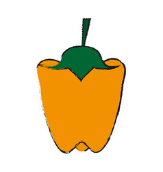 Peppers food draw vector