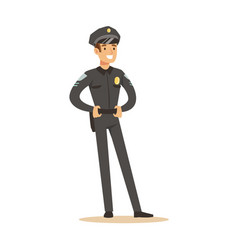 police officer profession character vector image
