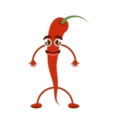 Red chili peper vegetable cook vector