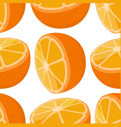 seamless pattern of oranges vector image vector image