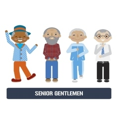 Senior citizens set vector