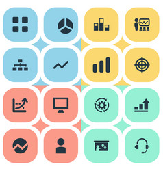 Set of simple seminar icons vector