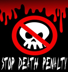 Stop death penalty vector