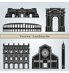 Verona landmarks and monuments vector image vector image