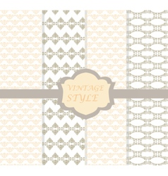 Vintage damask ornaments set vector image vector image