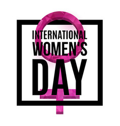 womens day poster vector image vector image