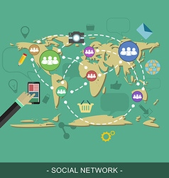 Social network web design concept editable for vector