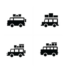 Car logistics and transport icons vector